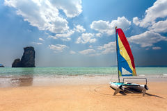 Catamaran, beach Royalty Free Stock Photography