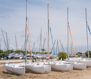 Catamaran on a beach Stock Photography