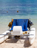 Catamaran  on a beach Royalty Free Stock Images