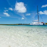 Catamaran at the beach Royalty Free Stock Photography