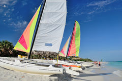 Catamaran on the beach Stock Images