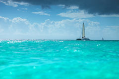 Catamaran boat in the  caribbean sea Royalty Free Stock Image