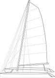 Catamaran Boat Layout Royalty Free Stock Images