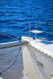 Catamaran bow Stock Photo