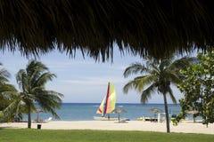 Catamaran in the Caribbean Stock Image