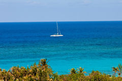 Catamaran on the Caribbean Stock Photo
