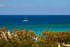Catamaran on the Caribbean Stock Images