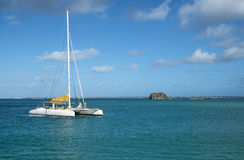 Catamaran in the Caribbean Sea Royalty Free Stock Photo