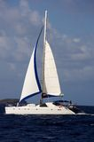 Catamaran in the caribbeans. Catamarran in the caribbeans near St-Marteen Stock Images