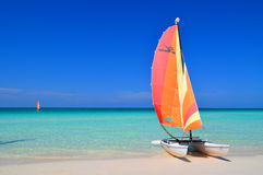 Catamaran in Cuba Royalty Free Stock Photos