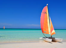 Catamaran in Cuba Stock Photo