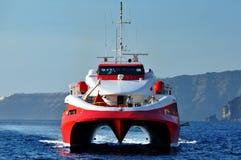 Catamaran de Grec de Santorini Image libre de droits