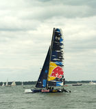 Catamaran de Red Bull à la semaine 3 de cowes Images stock