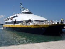 Catamaran for Favignana stock photos