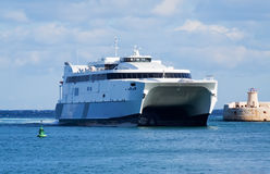 Catamaran ferry Stock Photography