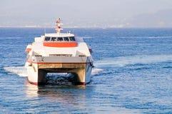 Catamaran ferry Stock Images