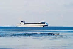 Catamaran ferry Royalty Free Stock Photos