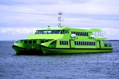 Catamaran Ferry A1. Catamaran ferry boat on a calm day at sea Stock Photos