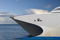 Catamaran Ferry Bow Royalty Free Stock Photos