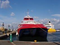 catamaran ferry, greece royalty free stock images