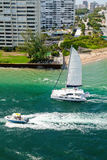 Catamaran in Fort Lauderdale, Florida Royalty Free Stock Photography