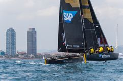 Extreme Sailing Series, Barcelona Royalty Free Stock Photos