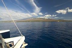 Catamaran, Haleakala Mountain in background.Maui, Hawaii Stock Photography