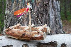 Catamaran handicraft Royalty Free Stock Images