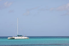 Catamaran In Caribbean Sea Stock Photo