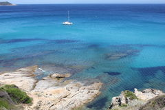 Catamaran In Saint Tropez Bay Stock Images