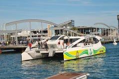 Catamaran mince d'Eco, Barcelone photographie stock libre de droits