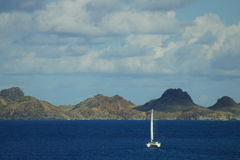 Catamaran near St. Barts Royalty Free Stock Photos