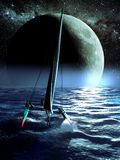 Catamaran night race Stock Images