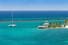 Catamaran in Ocho Rios, Jamaïca royalty-vrije stock foto's