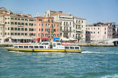 Catamaran with passengers sailing  to Venice ,Italy Royalty Free Stock Photo