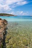 Catamaran Portinatx coastline in Ibiza Royalty Free Stock Images