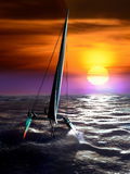 Catamaran race Stock Image