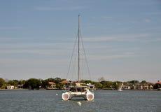 Catamaran rear view Royalty Free Stock Image