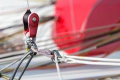 Catamaran rope tie detail Royalty Free Stock Photo