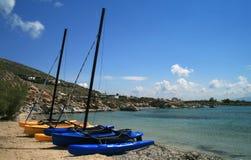 Catamaran sail boats Stock Image