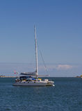 Catamaran sailboat Stock Photos