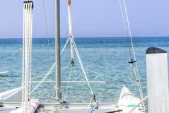 Catamaran sailboat Royalty Free Stock Images