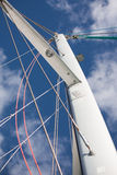 Catamaran sailboat mast with rigging Royalty Free Stock Photo