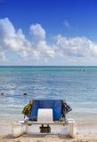 Catamaran sailboats on a beach at  sea Stock Images