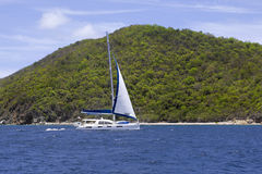 Catamaran sailing Royalty Free Stock Photography
