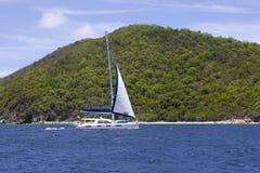 Catamaran sailing royalty free stock photography