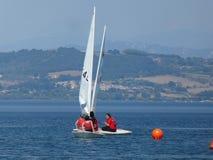 Catamaran sailing royalty free stock images