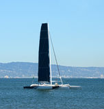 Catamaran in the San Francisco Bay Stock Photo