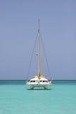 Catamaran in saona beach Royalty Free Stock Image