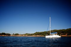 Catamaran on the sea Royalty Free Stock Photography